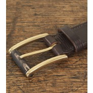 Purdey Angus Hide Belt With Buffalo Horn Roller