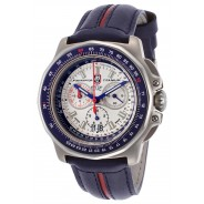 Luminox 9273 F-22 Raptor Chronograph titanium white blue lea