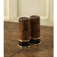 Purdey Horn/Walnut/Brass Salt + Pepper Set