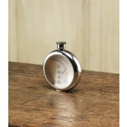 Purdey 6oz Round Concave Back Pewter Flask