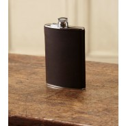 Purdey Hand Stitched Leather Flask 8oz - Brown