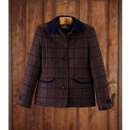 Purdey Ladies' Tweed Padded Jacket With Patch Pockets