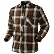Seeland Moscus Shirt Demitasse Brown check