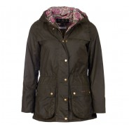 Barbour Wax Jacket Ladies Blaise Tartan Olive