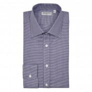 William&Son Hemd Houndstooth purple
