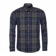 Barbour Hemd Stapleton Blan Navy