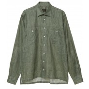 Purdey Shirt Leinen printed green