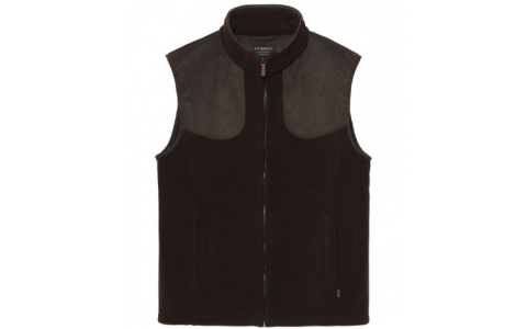 Purdey Fleece Shooting Gilet brown