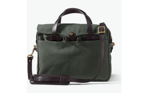 Briefcase original Tasche Canvas otter green